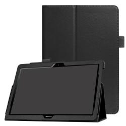 Huawei MediaPad T3 10 - Litchi läderfodral - Svart