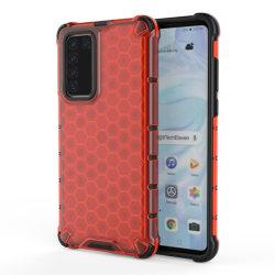Huawei P40 - Armor Honeycomb Textur - Röd