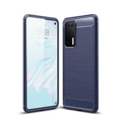Huawei P40 - Brushed Textur Skal - Mörk Blå