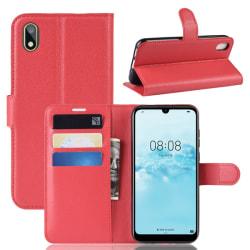 Huawei Y5 (2019) - Litchi Plånboksfodral - Röd