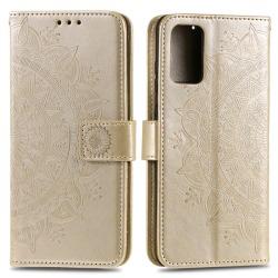 Samsung Galaxy S20 - Mandala Plånboksfodral - Guld