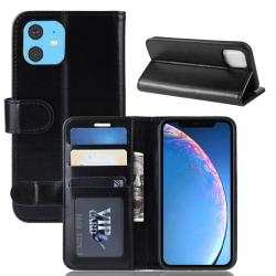 iPhone 11 - Crazy Horse Plånboksfodral - Svart