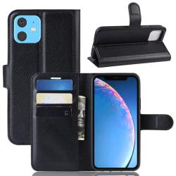 iPhone 11 - Litchi Plånboksfodral - Svart