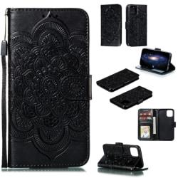 iPhone 11 Pro - Plånboksfodral Mandala - Svart