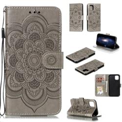 iPhone 11 - Sun Mandala Plånboksfodral - Grå