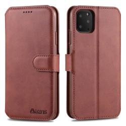 iPhone 12 / 12 Pro - AZNS Plånboksfodral - Brun