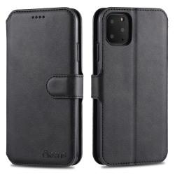 iPhone 12 / 12 Pro - AZNS Plånboksfodral - Svart