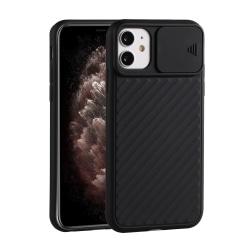 iPhone 12 / 12 Pro - CamShield Skal - Svart
