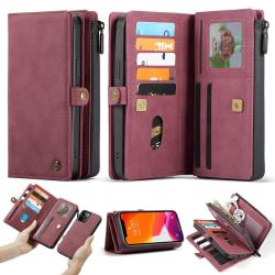 iPhone 12 / 12 Pro - CASEME 2-i-1 Magnet Skal/Fodral - Röd