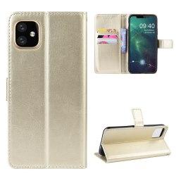 iPhone 12 / 12 Pro - Crazy Horse Fodral - Guld
