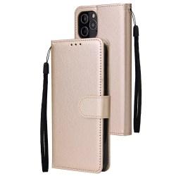 iPhone 12 / 12 Pro - Läder Fodral - Guld
