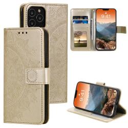 iPhone 12 / 12 Pro - Mandala Fodral - Guld
