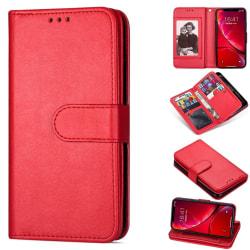 iPhone 12 Mini - 9-korts Läder Fodral - Röd Red Röd