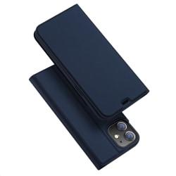 iPhone 12 Mini - DUX DUCIS Skin Pro Fodral - Mörk Blå DarkBlue Mörk Blå