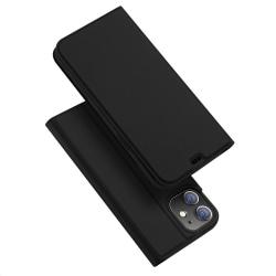 iPhone 12 Mini - DUX DUCIS Skin Pro Fodral - Svart Black Svart
