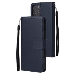 iPhone 12 Mini - Läder Fodral - Mörk Blå DarkBlue Mörk Blå