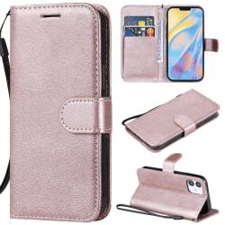 iPhone 12 Mini - Plånboksfodral - Roséguld Roséguld