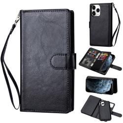 iPhone 12 Pro Max - 9-korts 2in1 Magnet/Fodral - Svart