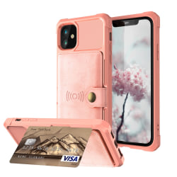 iPhone 12 Pro Max - Skal Med Magnetiskt Plånbok - Roséguld