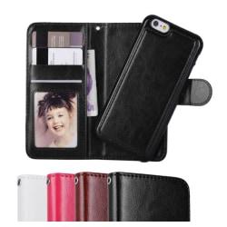 iPhone 6/6S Plus - Plånboksfodral / Magnet Skal 2 in 1 - Välj Fä Black Svart