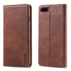 iPhone 7/8 Plus - AZNS Retro Plånboksfodral - Brun