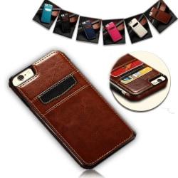 iPhone 7/8 Plus - Kortskal i PU-Läder - Rosa Rosa