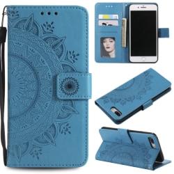 iPhone 7/8 Plus - Mandala Plånboksfodral - Blå