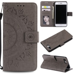 iPhone 7/8 Plus - Mandala Plånboksfodral - Grå