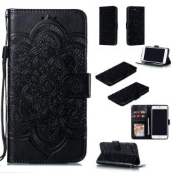 iPhone 7/8 Plus - Mandala Plånboksfodral - Svart