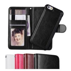 iPhone 6/6S Plus - Plånboksfodral/Magnet Skal - Välj Färg Svart