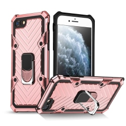 iPhone 7/8/SE (2020) - Shockproof Hybrid Ring Skal - Roséguld Roséguld