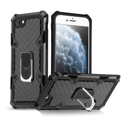 iPhone 7/8/SE (2020) - Shockproof Hybrid Ring Skal - Svart Black Svart