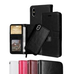 iPhone X/Xs - Plånboksfodral / Magnet Skal - Välj Färg! Svart