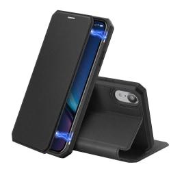iPhone XR - DUX DUCIS Shockproof Plånboksfodral - Svart