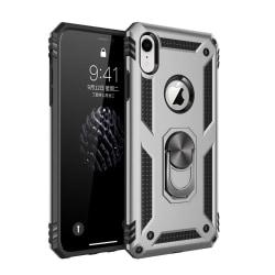 iPhone XR - Hybrid Armor Ring Skal - Silver Silver Silver