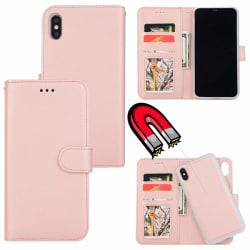 iPhone XR - Plånboksfodral / Magnet Skal 2in1 - Roséguld
