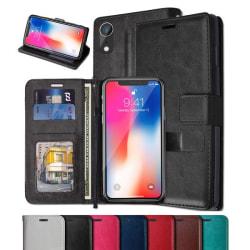 iPhone XR - Plånboksfodral - Välj Färg! Black Svart