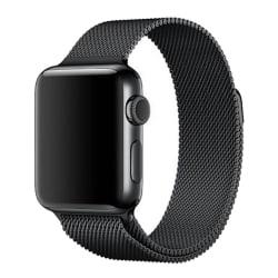 Milanese Loop Metall Armband Apple Watch 40/38 mm - Svart Black Svart