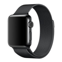 Milanese Loop Metall Armband Apple Watch 42/44 mm - Svart