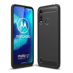 Motorola Moto G8 Power Lite - Borstad Stål Textur - Svart