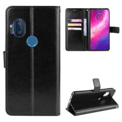 Motorola One Hyper - Crazy Horse Plånboksfodral - Svart