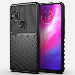 Motorola One Hyper - Twill Textur Skal - Svart