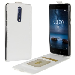 Nokia 8 - Flip Fodral - Vit
