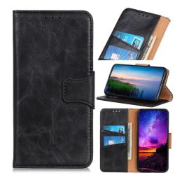 Samsung Galaxy A21s - Crazy Horse Plånboksfodral - Svart