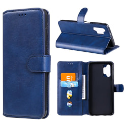 Samsung Galaxy A32 5G - Klassiskt Läder Fodral - Blå Blue Blå