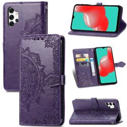 Samsung Galaxy A32 5G - Mandala Flower Fodral - Lila Purple Lila