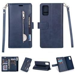 Samsung Galaxy A32 5G - Multifunktionellt Läder Fodral - Blå Blue Blå