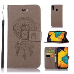 Samsung Galaxy A40 - Plånboksfodral Dream Catcher - Grå