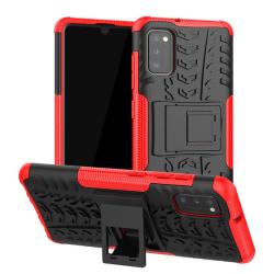 Samsung Galaxy A41 - Ultimata Stöttåliga Skalet med Stöd - Röd