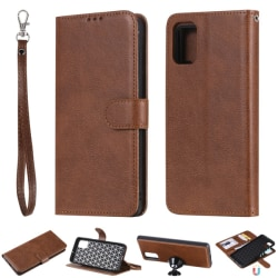 Samsung Galaxy A51 - 2in1 Magnet Skal / Plånboksfodral - Brun